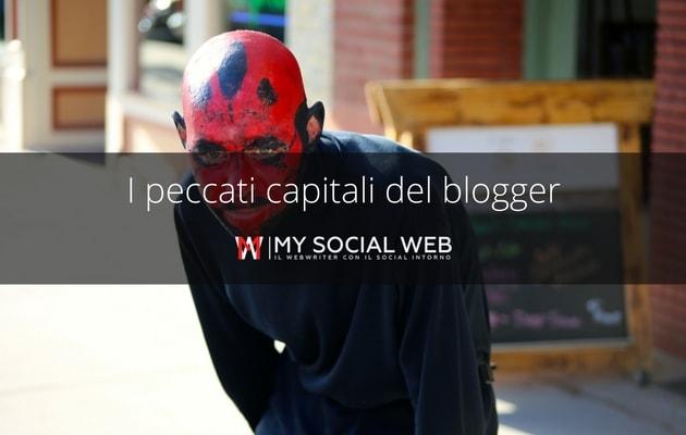 peccati capitali di un blogger