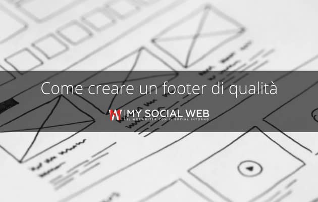 footer - pie di pagina