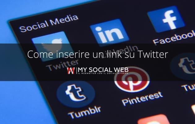 Aggiungere link su Twitter