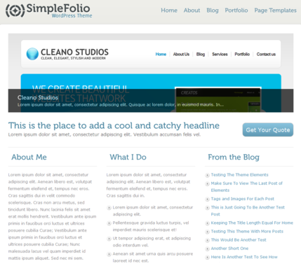 simplefolio wordpress