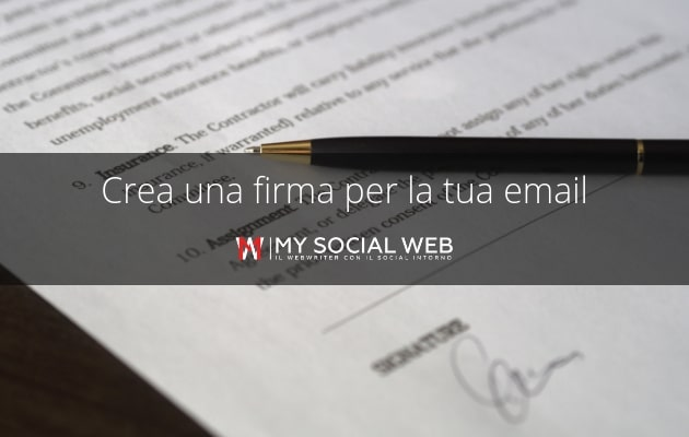 firma HTML per email