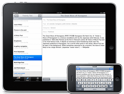 Wordpress per iPad e iPhone