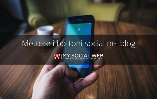 Inserire bottoni social su WordPress
