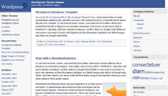 facebook-wordpress-theme