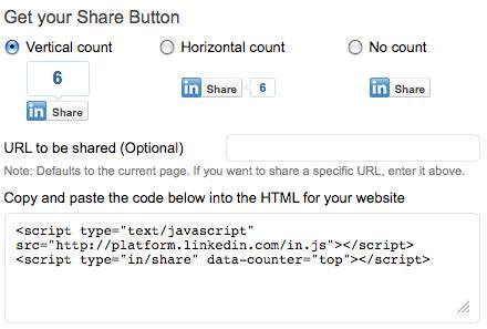 linkedin share button