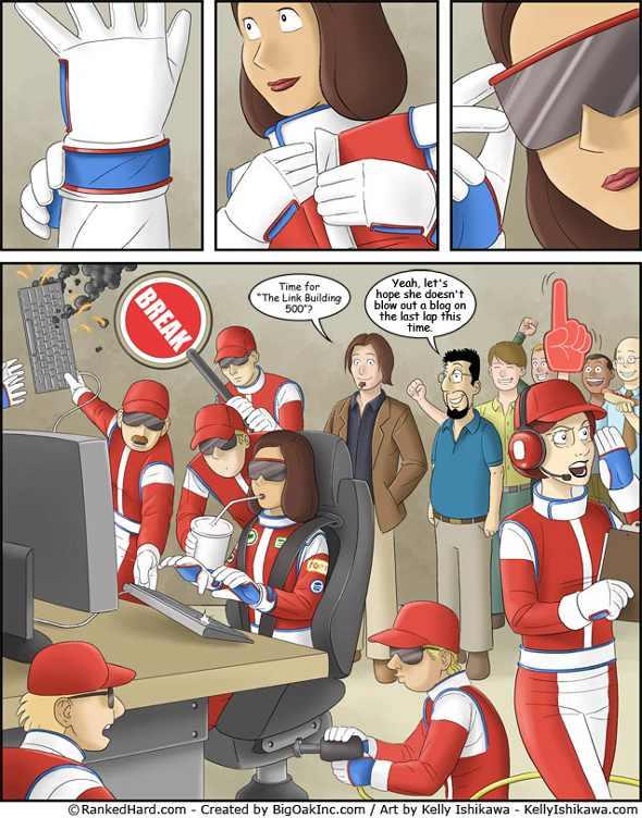 Link building seo comic