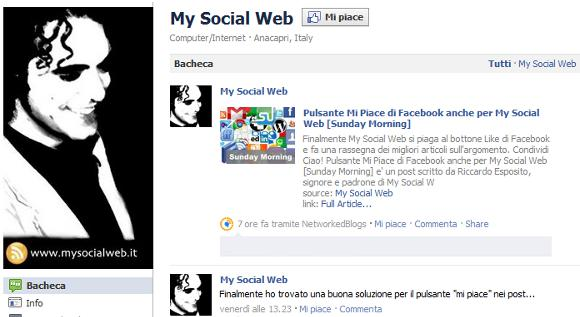 facebook fan page nuova