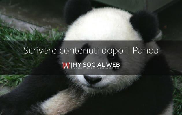 scrivere panda update