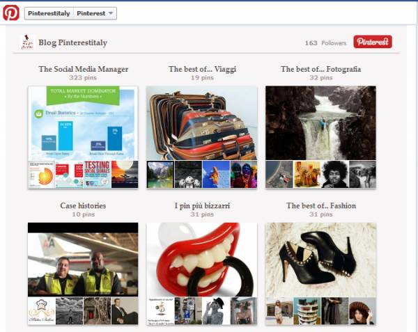 pinterest facebook fan page