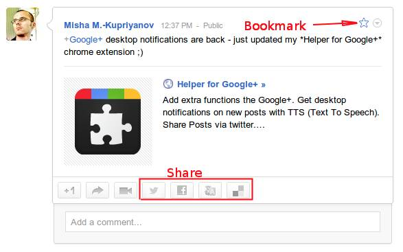 google plus chrome