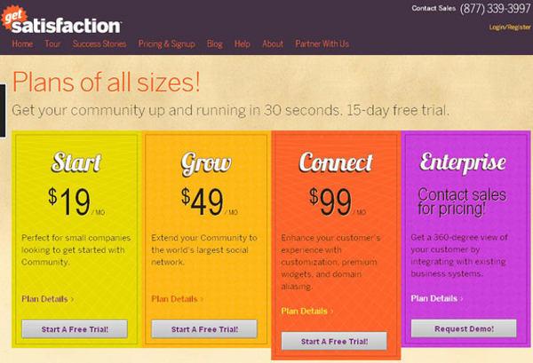 satisfaction tabella prezzi