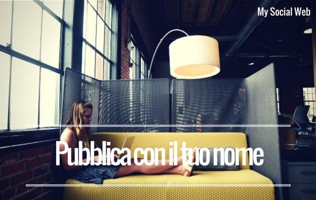 pubblicare con nome sul blog aziendale