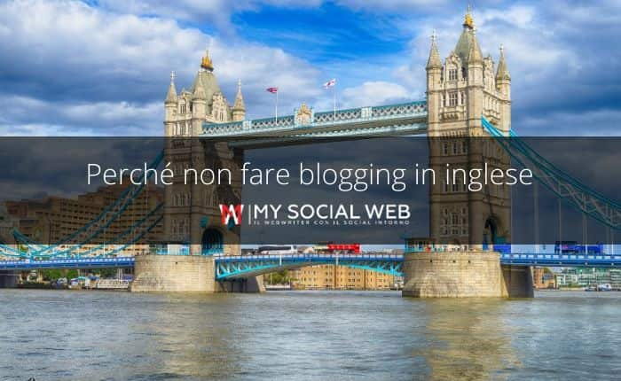 aprire un blog in inglese