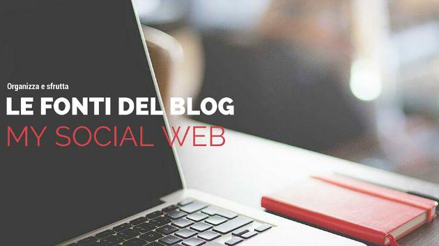 Come selezionare e organizzare le fonti del blog