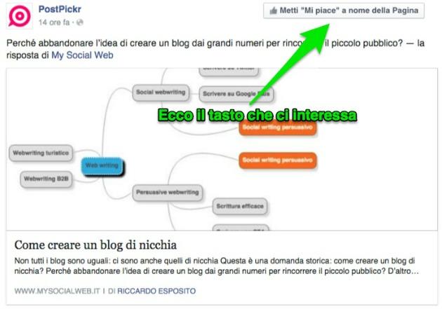 usare facebook come pagina