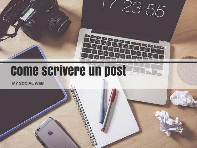 scrivere un post