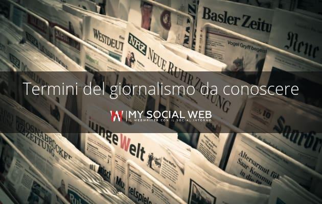 glossario giornalistico