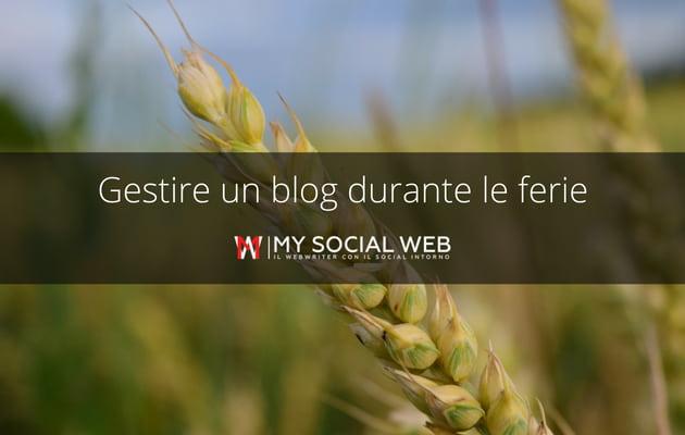 gestire un blog durante le ferie