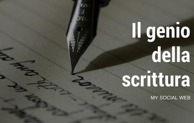 Quando manca il genio di scrivere
