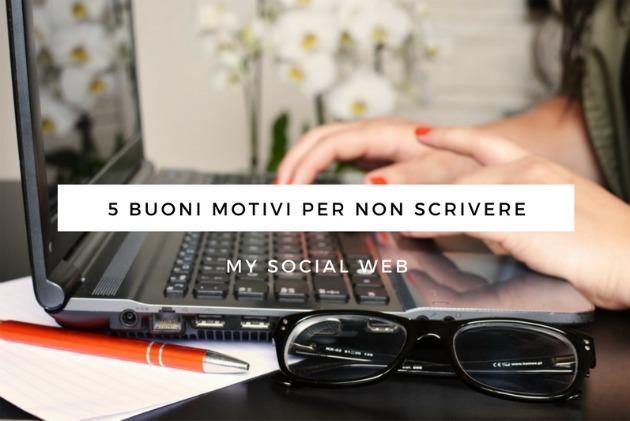 Non scrivere ogni giorno sul blog