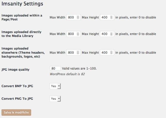 come ottimizzare le immagini wordpress