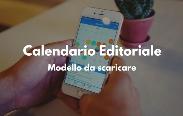 Modello di calendario editoriale blog