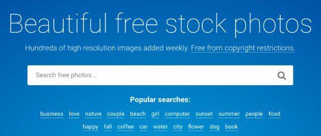 Stocksnap - migliori siti per scaricare immagini gratis