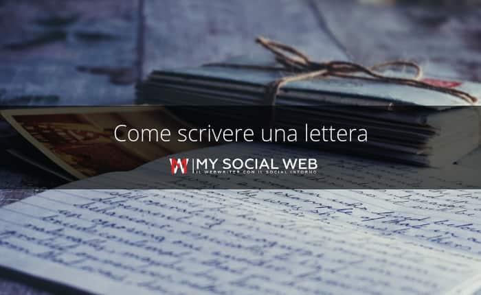 coem si scrive una lettera