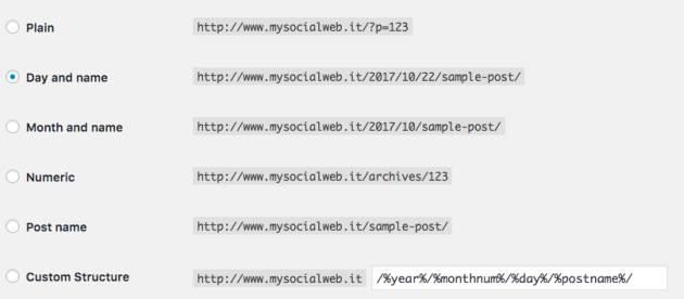 struttura URL SEO
