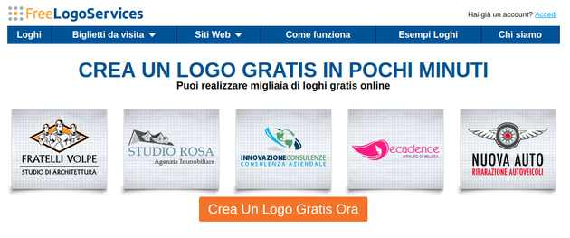 Realizza loghi online