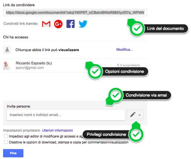 condivisione documenti google docs