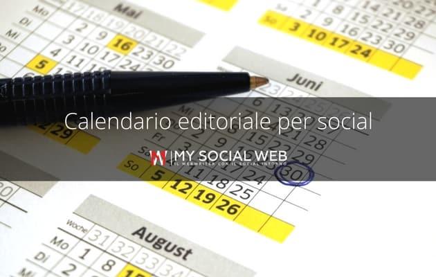 calendario social media strategist