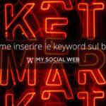 come aggiungere le keyword nel sito