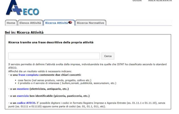 codice attività (Ateco)