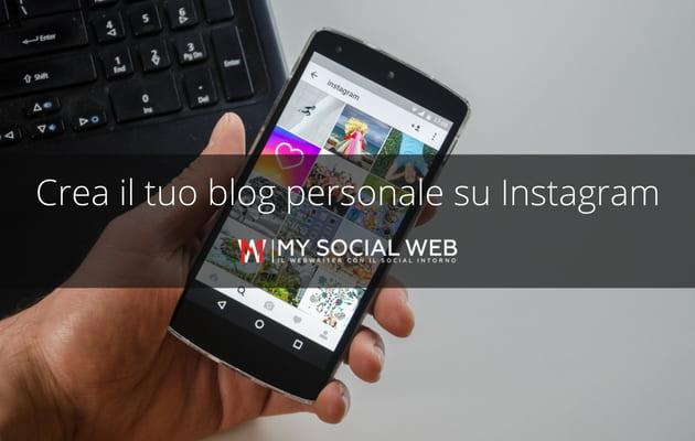 come mettere la scritta blog personale su Instagram