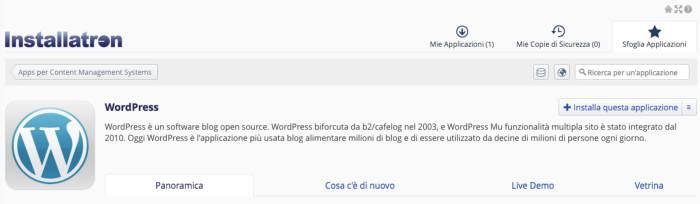installa wordpress