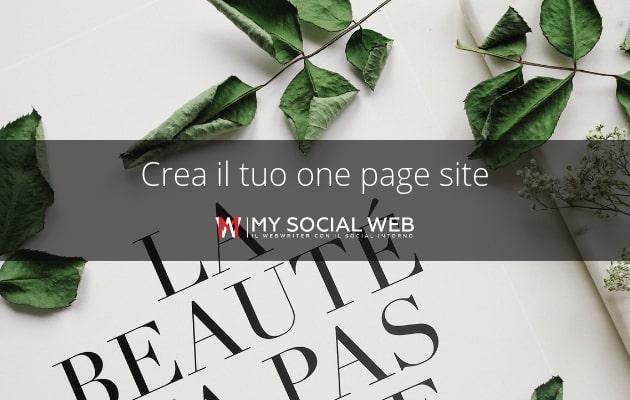 come creare un sito monopagina