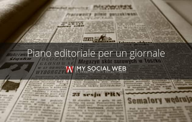 piano editoriale per un giornale