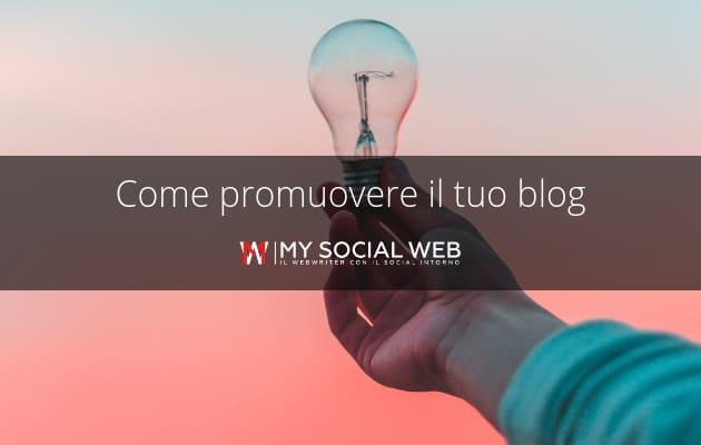 Promuovere un blog