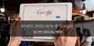 Analisi della Serp di Google