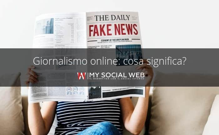 Cos'è il giornalismo online?