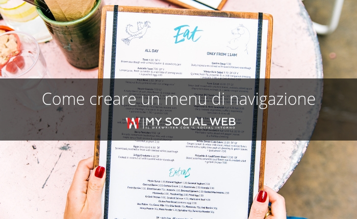 Creare un menu WordPress