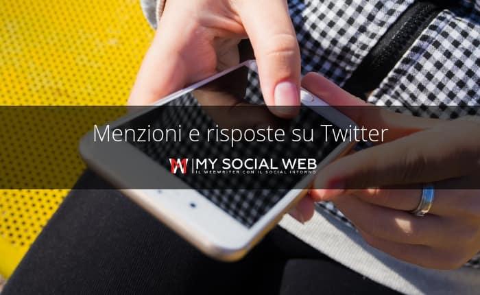 come controllare menzioni e risposte su Twitter