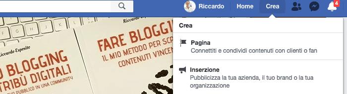 come creare uan pagina facebook