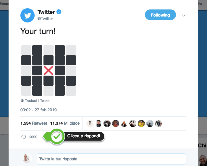 Come commentare su Twitter