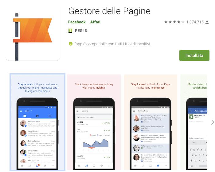 app per gestire fan page
