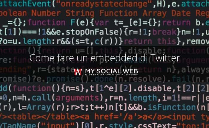 come embeddare un tweet