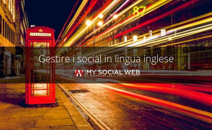 Gestione dei social media in inglese