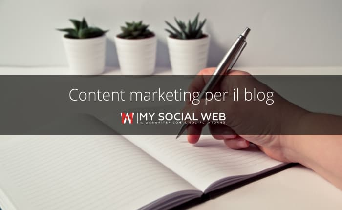 content marketing con il blog