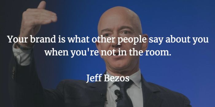Citazione di jeff bezos sulla reputazione internet.